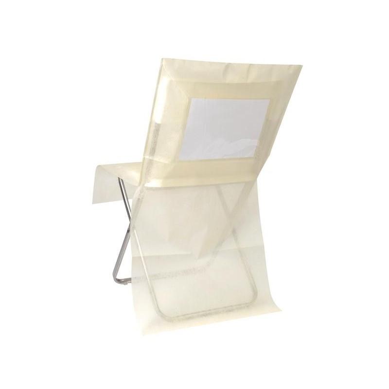 Housse de chaise intiss couleur personnalisable les 10 - Housses chaises jetables ...