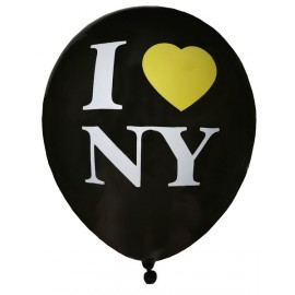 Ballons New York I Love NY noirs 23 cm les 8