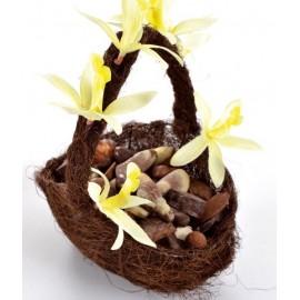 Panier en sisal chocolat