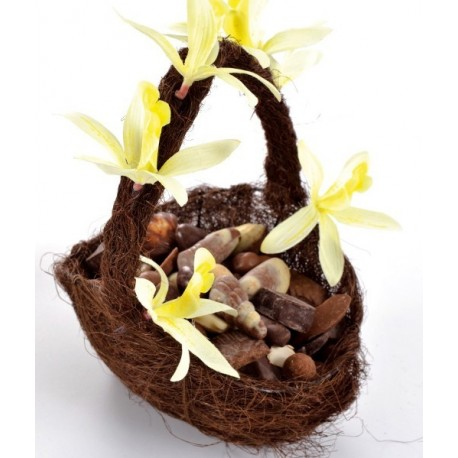 Panier en sisal chocolat panier à pétales en sisal naturel