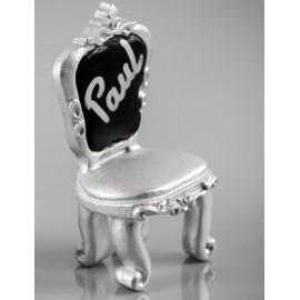 Marque place chaise baroque argent les 2