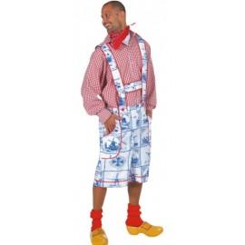 Déguisement tyrolien homme pantalon Bleu de Delft luxe