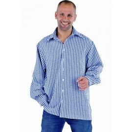 Chemise vichy bleu homme deluxe déguisement