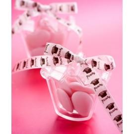 Boîtes à dragées couronne princesse transparente les 4