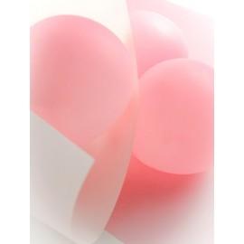 Ballons Rose Uni 23 cm les 8 - Ballons de baudruche