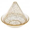 Boîtes à dragées tagine transparente pailletée or les 4
