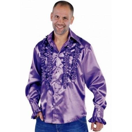 Déguisement chemise disco violette homme luxe