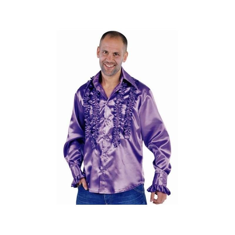 d guisement chemise disco violette homme luxe. Black Bedroom Furniture Sets. Home Design Ideas