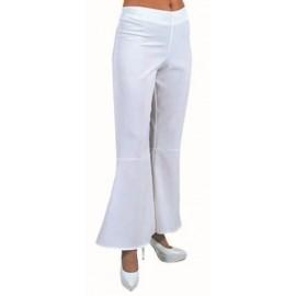 Déguisement pantalon hippie blanc femme luxe