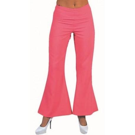 Deguisement hippie pantalon rose femme luxe