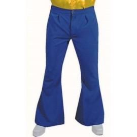 Déguisement pantalon hippie bleu homme luxe