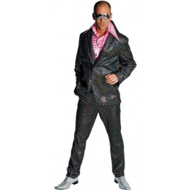 Déguisement disco noir paillettes homme luxe