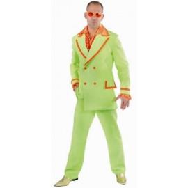 Déguisement fluo vert chic homme luxe