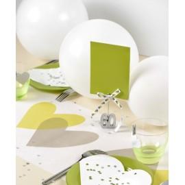 Ballons latex Blanc 23 cm les 8 ballons de baudruche