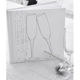 Livre d'or champagne blanc argent chic