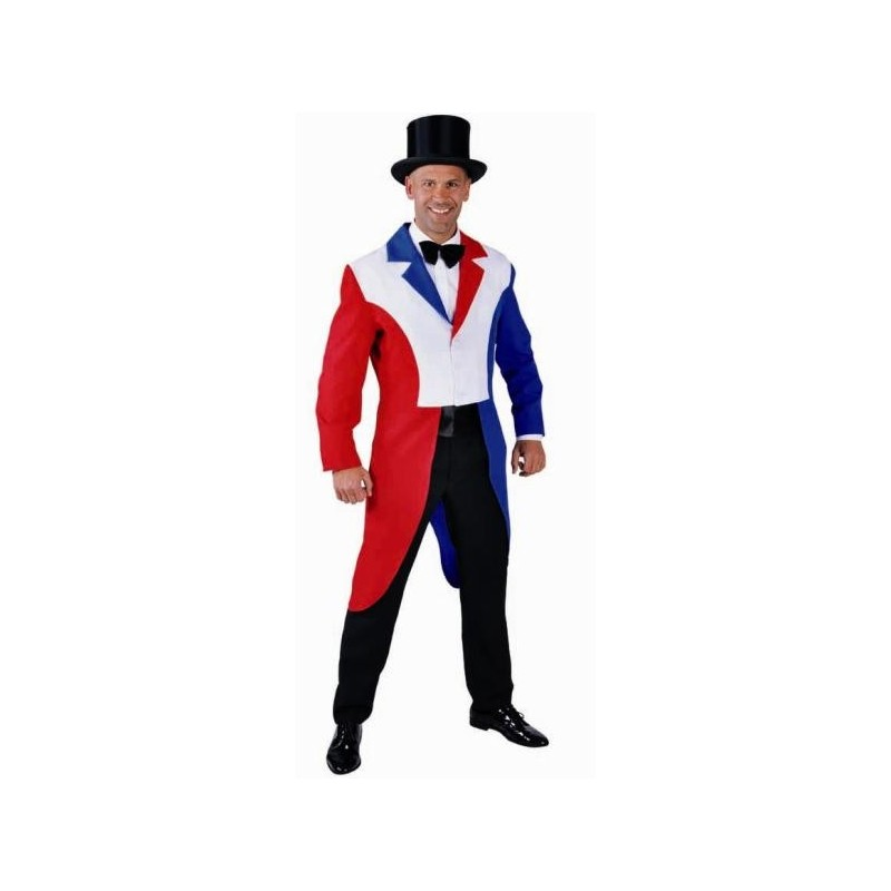 dguisement queue de pie rouge blanc bleu homme luxe - Costume Queue De Pie Homme Mariage