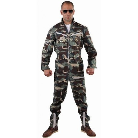 Déguisement pilote de chasse camouflage homme luxe