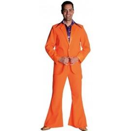 Déguisement disco orange homme 70's luxe