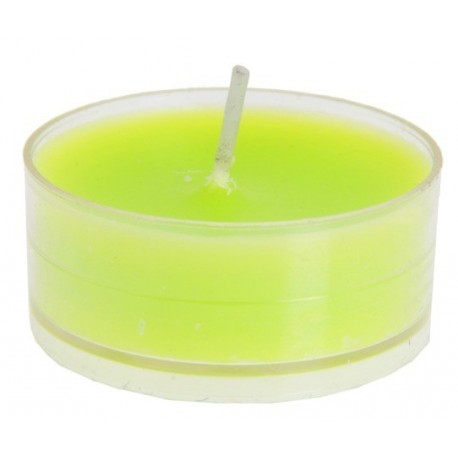 Bougies chauffe plat vert anis rondes 3.5 cm les 40