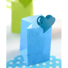 Photophores papier turquoise ignifugé 10 cm les 6