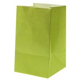 Photophores papier vert anis ignifugé 10 cm les 6