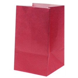 Photophore papier fuchsia ignifugé 10 cm les 6