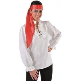 Déguisement chemise pirate écru femme luxe