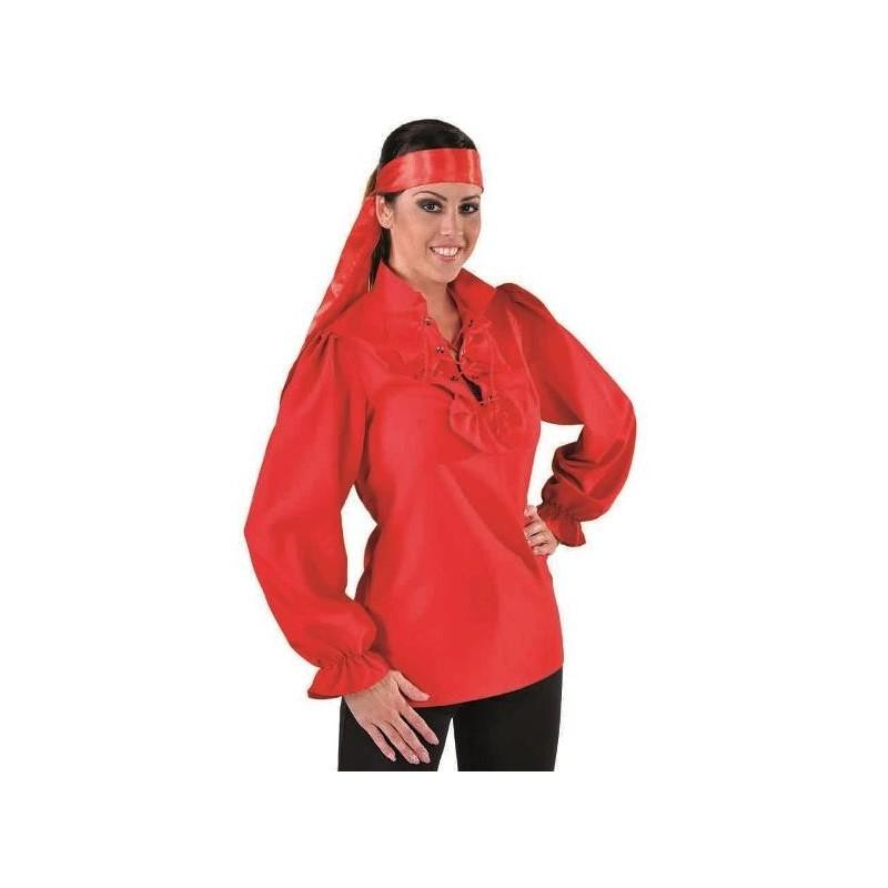 d guisement chemise pirate rouge femme d guisements pirate adulte. Black Bedroom Furniture Sets. Home Design Ideas