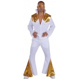 Déguisement Elvis Las Vegas blanc homme luxe