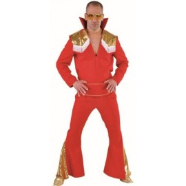 Déguisement Elvis Las Vegas rouge homme luxe