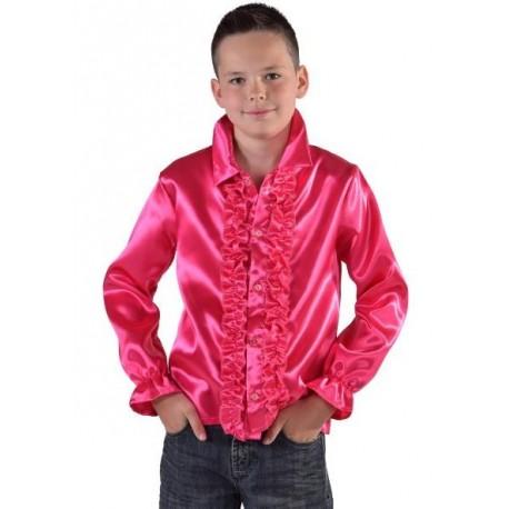 Déguisement chemise disco fuchsia enfant