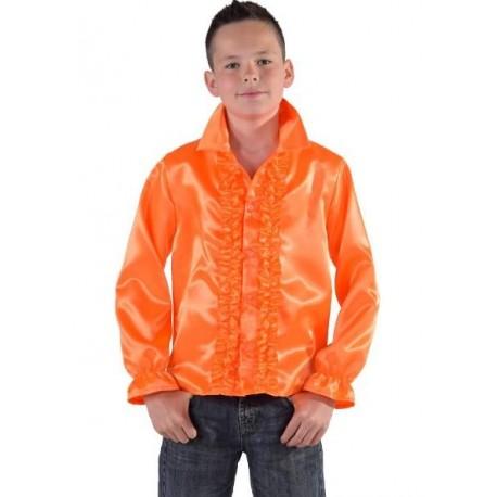 Déguisement chemise disco orange enfant