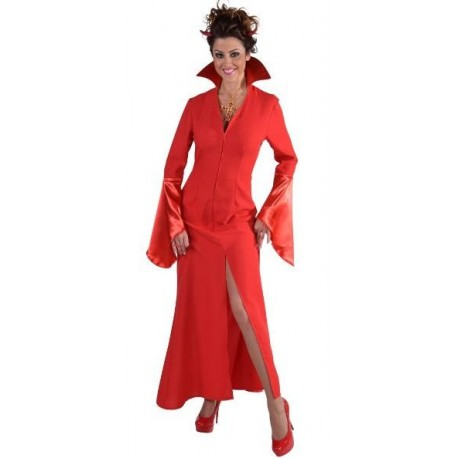 Déguisement vampire rouge femme Halloween sexy luxe