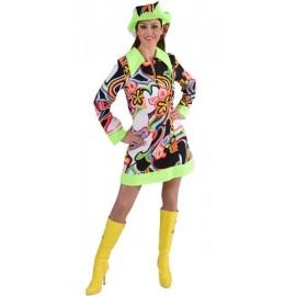 Déguisement disco fantasy femme années 60-70 luxe