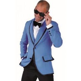 Déguisement 60's veste Magic Style bleue homme luxe