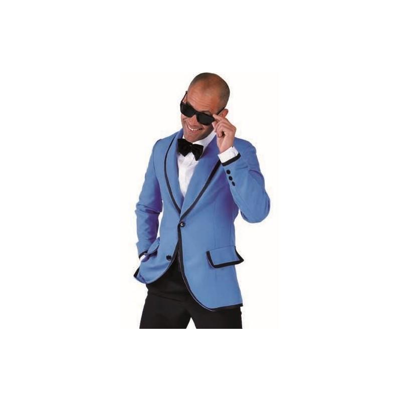 d guisement 60 39 s veste magic style bleue homme luxe. Black Bedroom Furniture Sets. Home Design Ideas