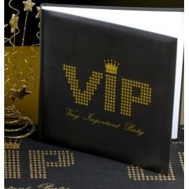 Livre d'or VIP noir or pailleté