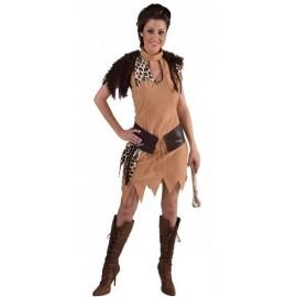 Déguisement femme de Néandertal luxe