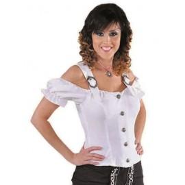 Déguisement blouse tyrolienne blanche femme luxe