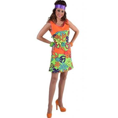 Déguisement hippie femme Magic Peace luxe