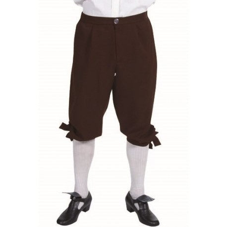 Déguisement marquis pantalon brun homme luxe
