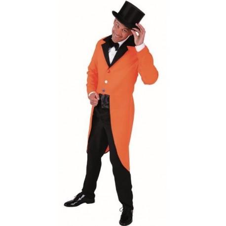 Déguisement queue de pie orange homme luxe