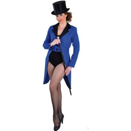 Déguisement queue de pie bleue femme luxe