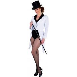 Déguisement queue de pie blanche femme luxe