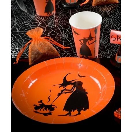 Assiette carton sorcière Halloween 22.5 cm les 10