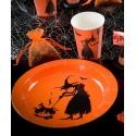 Assiettes carton sorcière Halloween 22.5 cm les 10