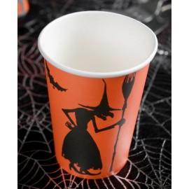 Gobelets carton sorcière Halloween les 10