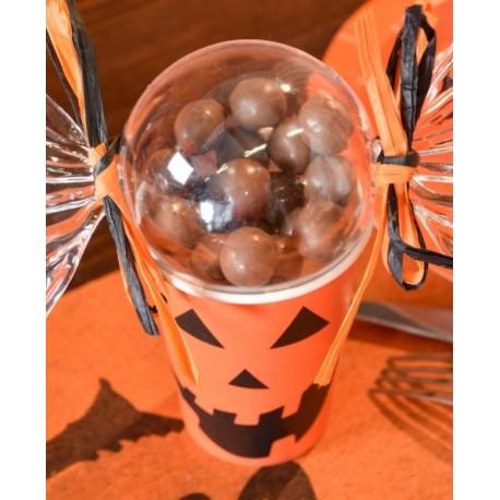 gobelets citrouille Halloween carton les 10