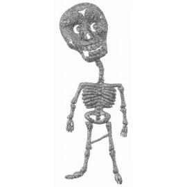 Squelette pailleté argent 18.5 cm les 2