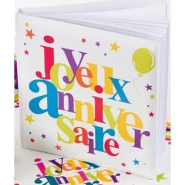 Livre d'or joyeux anniversaire festif